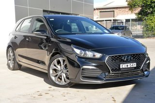 2018 Hyundai i30 PD.3 MY19 N Line D-CT Black 7 Speed Sports Automatic Dual Clutch Hatchback.