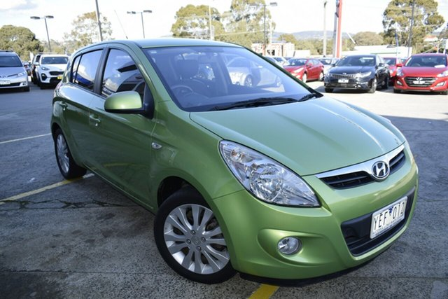 Used Hyundai i20 PB Premium, 2010 Hyundai i20 PB Premium Green 4 Speed Automatic Hatchback
