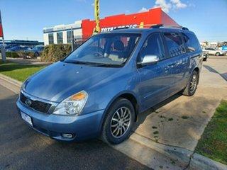 2011 Kia Grand Carnival VQ MY11 SLi Blue 6 Speed Sports Automatic Wagon.