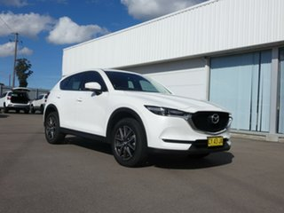 2017 Mazda CX-5 KE1032 Grand Touring SKYACTIV-Drive i-ACTIV AWD White 6 Speed Sports Automatic Wagon.