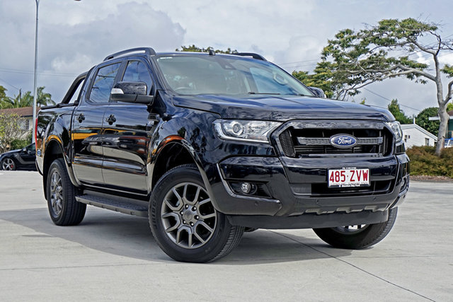 Used Ford Ranger PX MkII 2018.00MY FX4 Double Cab, 2017 Ford Ranger PX MkII 2018.00MY FX4 Double Cab Shadow Black 6 Speed Sports Automatic Utility