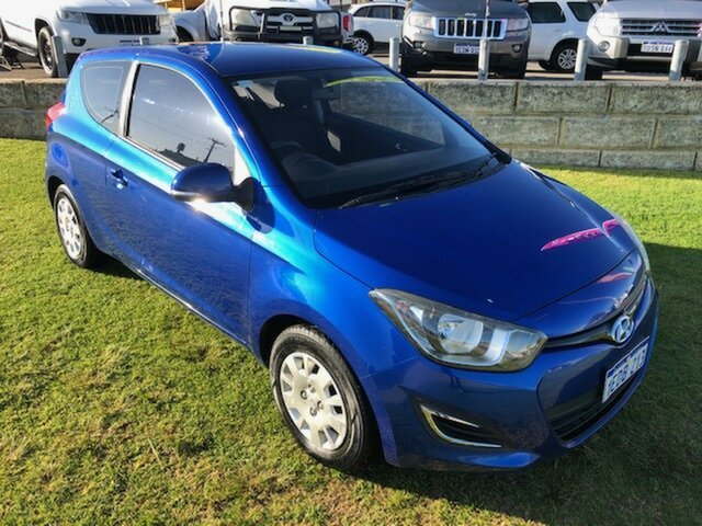 Used Hyundai i20 PB MY13 Active Wangara, 2013 Hyundai i20 PB MY13 Active Blue 6 Speed Manual Hatchback