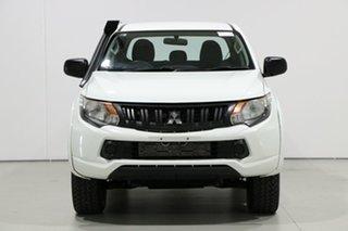 2017 Mitsubishi Triton MQ MY17 GLX Plus (4x4) White 5 Speed Automatic Dual Cab Utility.