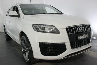 2015 Audi Q7 4L MY15 TDI Tiptronic Quattro White 8 Speed Sports Automatic Wagon.