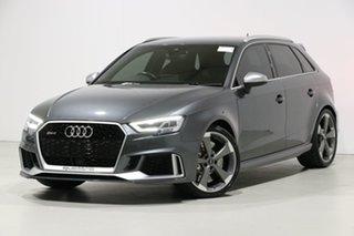 2017 Audi RS 3 8V MY18 Sportback Quattro Daytona Grey 7 Speed Auto Dual Clutch Hatchback.