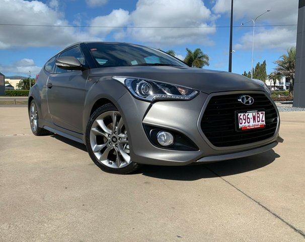 Used Hyundai Veloster FS4 Series II SR Coupe Turbo, 2015 Hyundai Veloster FS4 Series II SR Coupe Turbo Grey 6 Speed Manual Hatchback