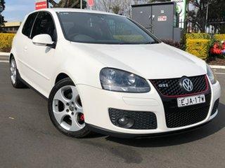 2007 Volkswagen Golf V MY08 GTi White 6 Speed Manual Hatchback.