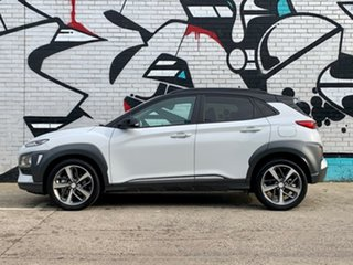 2019 Hyundai Kona OS.3 MY20 Highlander D-CT AWD Chalk White & Black Roof 7 Speed