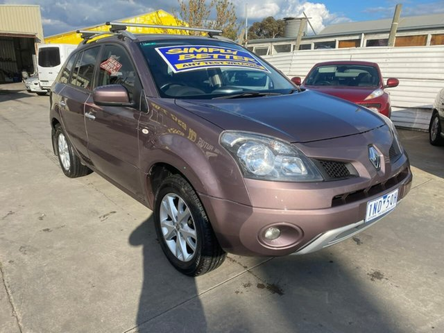 Used Renault Koleos H45 MY10 Expression, 2010 Renault Koleos H45 MY10 Expression Purple 1 Speed Constant Variable Wagon