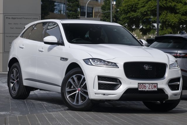 Demo Jaguar F-PACE X761 MY20 R-Sport Newstead, 2019 Jaguar F-PACE X761 MY20 R-Sport Fuji White 8 Speed Sports Automatic Wagon