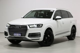 2016 Audi Q7 4M MY17 3.0 TDI Quattro (160kW) White 8 Speed Automatic Tiptronic Wagon.