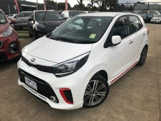 2020 Kia Picanto JA MY20 GT Clear White 5 Speed Manual Hatchback.