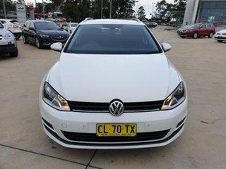 2017 Volkswagen Golf VII MY17 92TSI DSG Comfortline White 7 Speed Sports Automatic Dual Clutch Wagon.