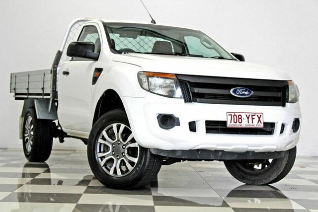 Used Ford Ranger PX XL 2.2 Hi-Rider (4x2), 2012 Ford Ranger PX XL 2.2 Hi-Rider (4x2) White 6 Speed Manual Cab Chassis