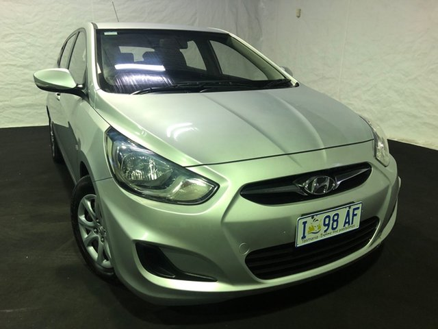 Used Hyundai Accent RB Active, 2012 Hyundai Accent RB Active Silver 4 Speed Sports Automatic Hatchback