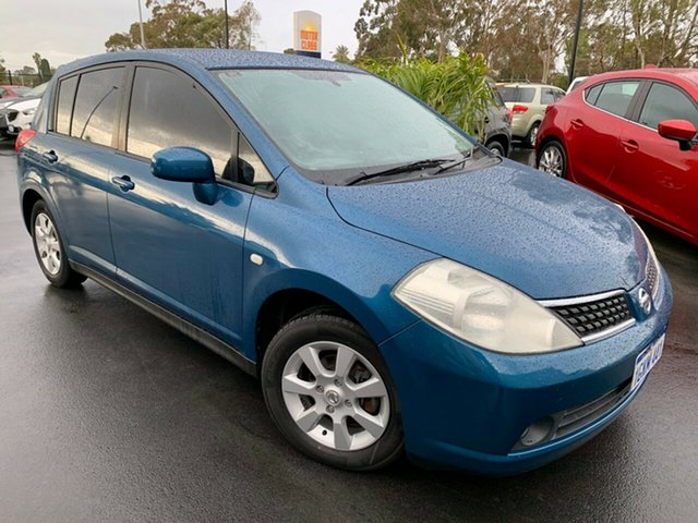 Used Nissan Tiida C11 MY07 Q Bunbury, 2008 Nissan Tiida C11 MY07 Q Blue 6 Speed Manual Hatchback
