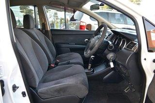 2009 Nissan Tiida C11 MY07 ST-L White 4 Speed Automatic Sedan.