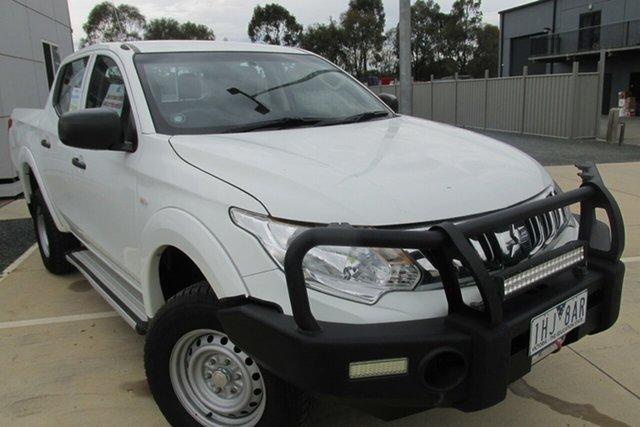 Used Mitsubishi Triton MQ MY16 GLX Double Cab, 2015 Mitsubishi Triton MQ MY16 GLX Double Cab White 6 Speed Manual Utility