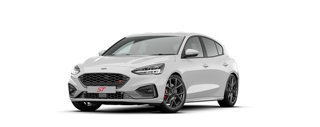 New Ford Focus SA MY21 ST Dandenong, 2020 Ford Focus SA MY21 ST Frozen White 7 Speed Automatic Hatchback