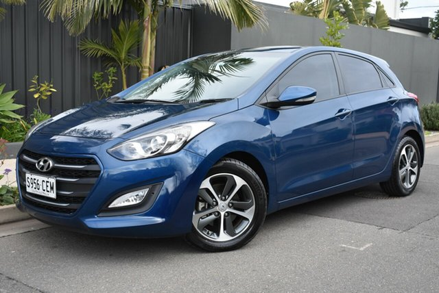 Used Hyundai i30 GD3 Series II MY16 Active X, 2015 Hyundai i30 GD3 Series II MY16 Active X Blue 6 Speed Sports Automatic Hatchback
