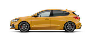 2020 Ford Focus ST Orange Fury 7 Speed Automatic Hatchback.