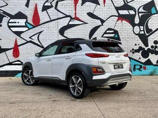2019 Hyundai Kona OS.3 MY20 Highlander D-CT AWD Chalk White & Black Roof 7 Speed.