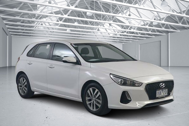 Used Hyundai i30 PD Active, 2017 Hyundai i30 PD Active White 6 Speed Auto Sequential Hatchback