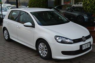 2012 Volkswagen Golf VI MY12.5 BlueMOTION White 5 Speed Manual Hatchback.