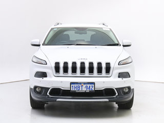 2014 Jeep Cherokee KL Limited (4x4) White 9 Speed Automatic Wagon.