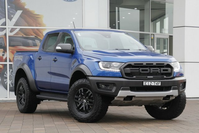 Used Ford Ranger PX MkIII 2019.00MY Raptor, 2019 Ford Ranger PX MkIII 2019.00MY Raptor Blue 10 Speed Sports Automatic Double Cab Pick Up