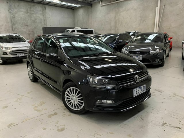 Used Volkswagen Polo 6R MY15 81TSI DSG Comfortline, 2015 Volkswagen Polo 6R MY15 81TSI DSG Comfortline Black 7 Speed Sports Automatic Dual Clutch