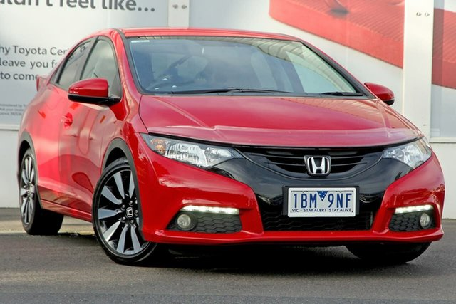 Pre-Owned Honda Civic 9th Gen MY14 VTi-LN Ferntree Gully, 2014 Honda Civic 9th Gen MY14 VTi-LN Red 5 Speed Sports Automatic Hatchback
