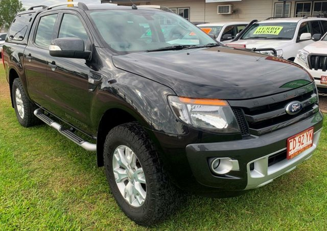 Used Ford Ranger PX Wildtrak Double Cab, 2014 Ford Ranger PX Wildtrak Double Cab Black 6 Speed Manual Utility