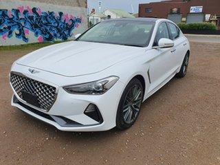 2019 Genesis G70 IK Sport White Sports Automatic Sedan.