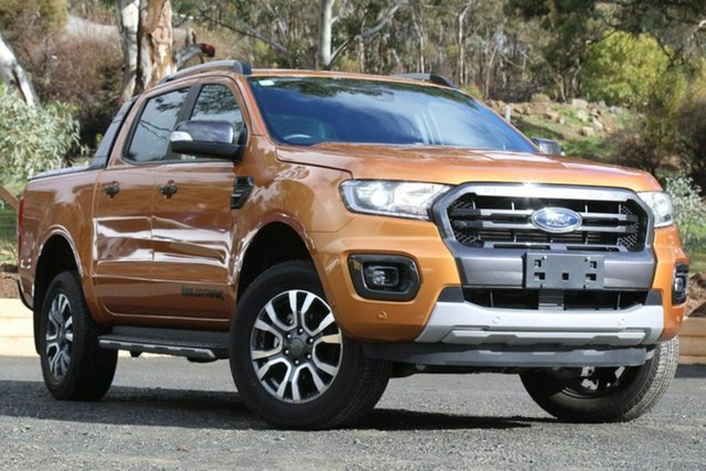Used Ford Ranger PX MkIII 2019.00MY Wildtrak, 2019 Ford Ranger PX MkIII 2019.00MY Wildtrak Orange 10 Speed Sports Automatic Double Cab Pick Up