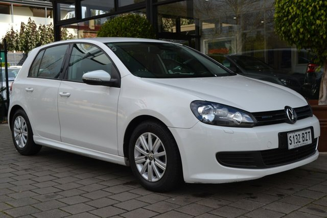 Used Volkswagen Golf VI MY12.5 BlueMOTION, 2012 Volkswagen Golf VI MY12.5 BlueMOTION White 5 Speed Manual Hatchback