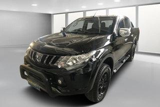 2016 Mitsubishi Triton MQ MY17 Exceed Double Cab Black Metallic 5 Speed Sports Automatic Utility.