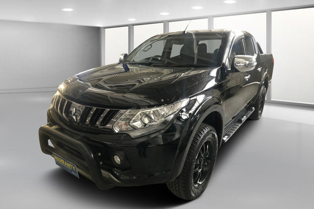 Used Mitsubishi Triton MQ MY17 Exceed Double Cab, 2016 Mitsubishi Triton MQ MY17 Exceed Double Cab Black Metallic 5 Speed Sports Automatic Utility