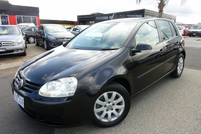 Used Volkswagen Golf V MY07 Trendline DSG Cheltenham, 2006 Volkswagen Golf V MY07 Trendline DSG Black 6 Speed Sports Automatic Dual Clutch Hatchback
