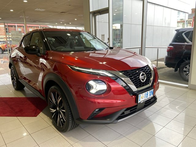 Demo Nissan Juke F16 Ti DCT 2WD Launceston, 2020 Nissan Juke F16 Ti DCT 2WD Fuji Sunset Red 7 Speed Sports Automatic Dual Clutch Hatchback