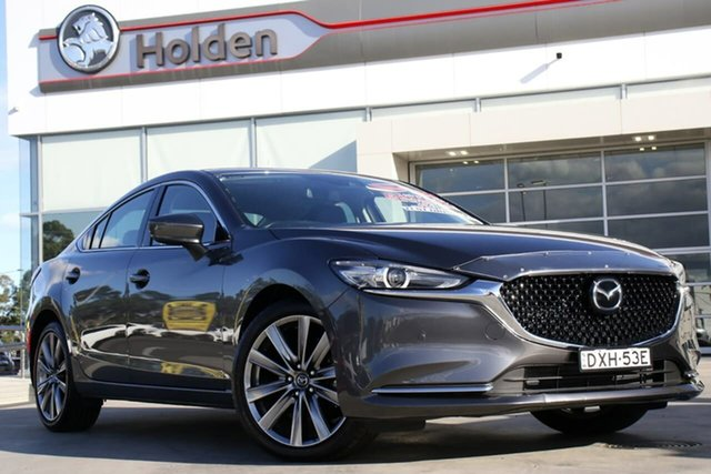 Used Mazda 6 GL1032 GT SKYACTIV-Drive, 2018 Mazda 6 GL1032 GT SKYACTIV-Drive Machine Grey 6 Speed Sports Automatic Sedan
