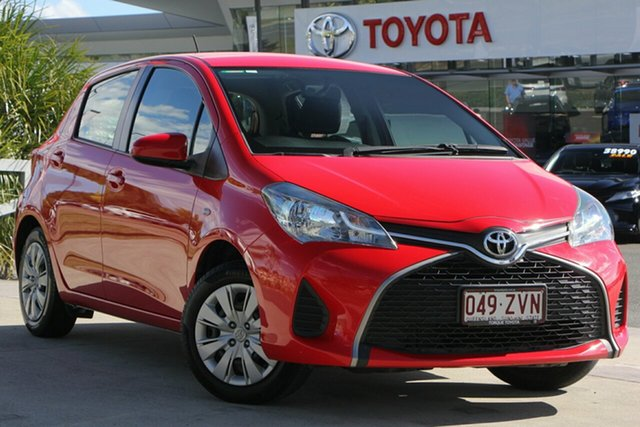 Used Toyota Yaris NCP130R Ascent, 2016 Toyota Yaris NCP130R Ascent Cherry 5 Speed Manual Hatchback