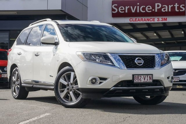 Used Nissan Pathfinder R52 MY14 Ti X-tronic 4WD, 2014 Nissan Pathfinder R52 MY14 Ti X-tronic 4WD White 1 Speed Constant Variable Wagon Hybrid