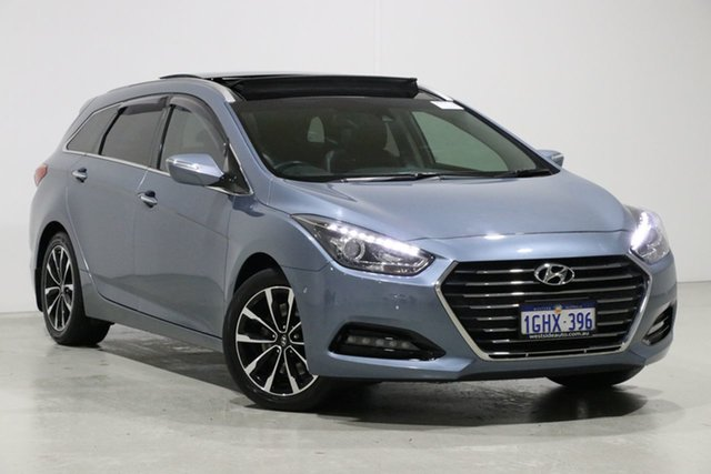 Used Hyundai i40 VF4 Series II MY17 Premium Tourer, 2017 Hyundai i40 VF4 Series II MY17 Premium Tourer Grey 7 Speed Auto Dual Clutch Wagon