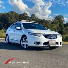 2012 Honda Accord Euro CU MY13 White 5 Speed Automatic Sedan.