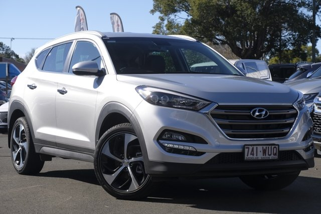 Used Hyundai Tucson TLE Elite D-CT AWD, 2016 Hyundai Tucson TLE Elite D-CT AWD Platinum Silver 7 Speed Sports Automatic Dual Clutch Wagon