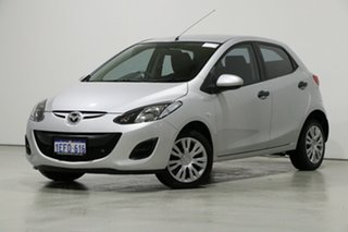 2010 Mazda 2 DE Neo Silver 5 Speed Manual Hatchback.