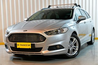2016 Ford Mondeo MD Ambiente PwrShift Silver 6 Speed Sports Automatic Dual Clutch Wagon.