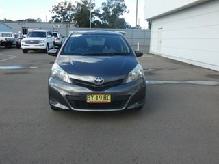 2013 Toyota Yaris NCP130R YR Graphite 4 Speed Automatic Hatchback.