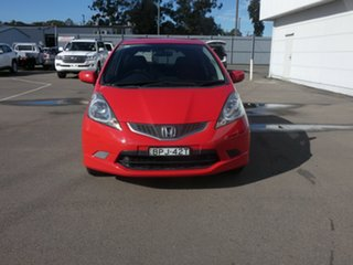 2010 Honda Jazz GE MY10 VTi-S Red 5 Speed Sports Automatic Hatchback.